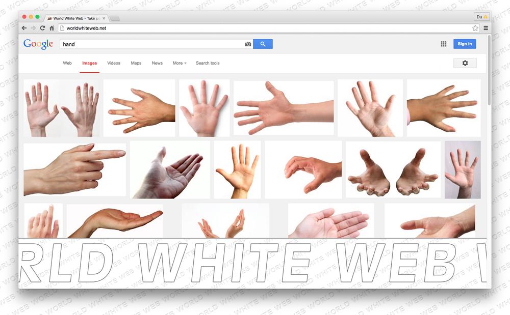 "Bidraget ""World white web"" av Johanna Burai."